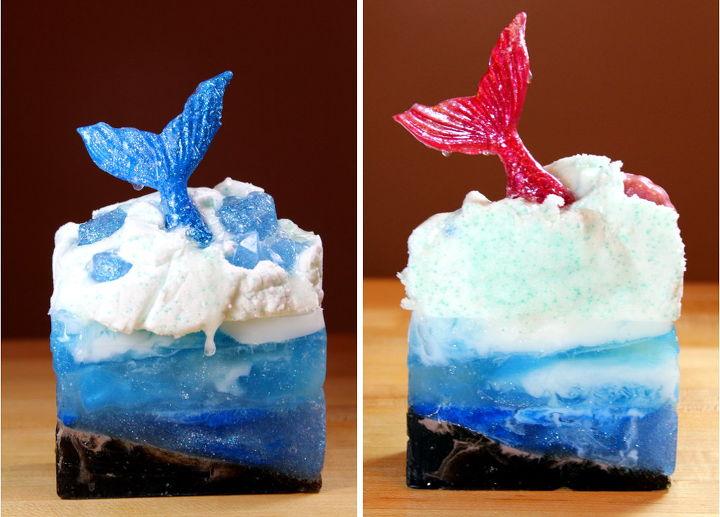 diy mermaid soap