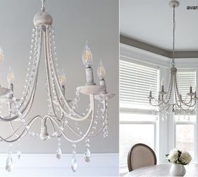 Image of: How To Paint A Diy Crystal Distressed Chandelier Hometalk