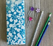 diy school supplies with duck tape and rhinestones