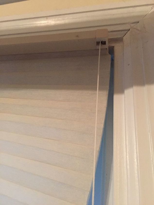 q how do i remove pleated window shades that have broken strings