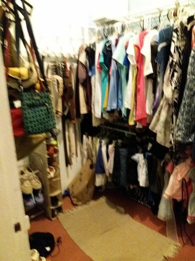 q my walking closet is very very small please help