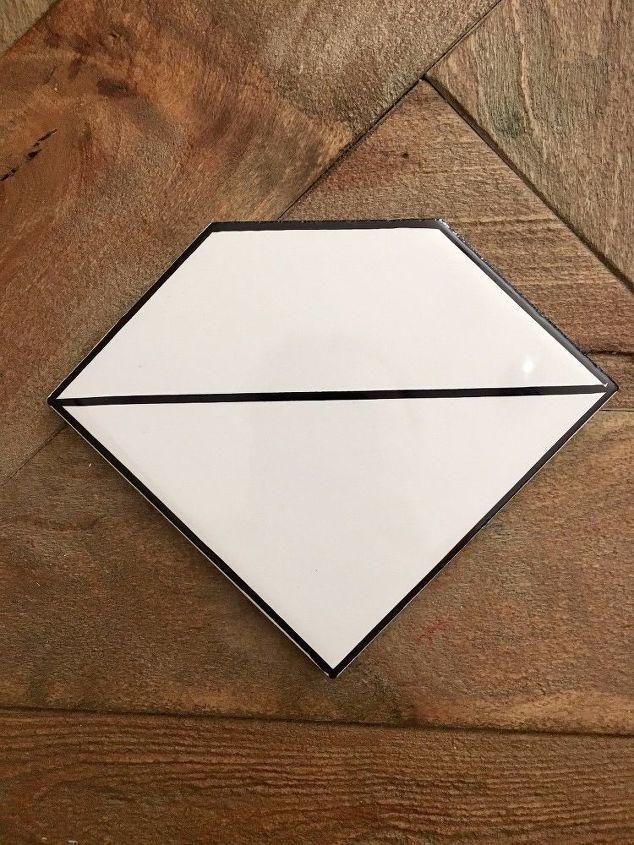 ceramic tile diamond coasters