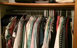 organize a small closet for under 50