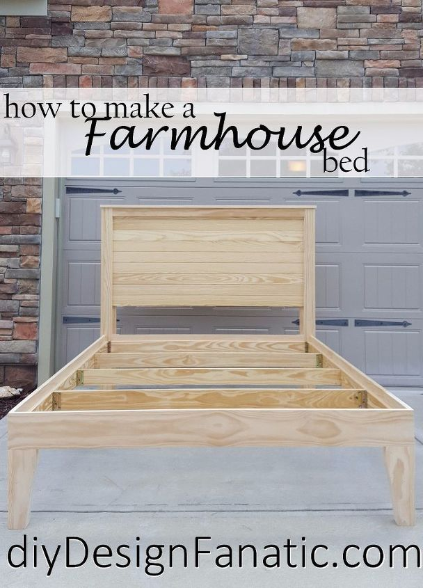 distressed finish farmhouse bed