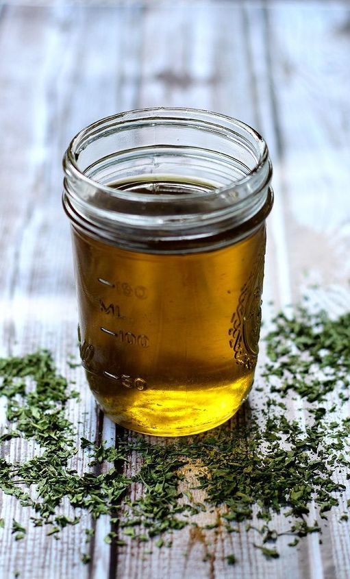 parsley infused hot oil treatment