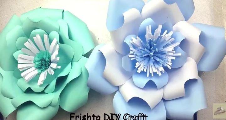 Diy paper flower tutorial hometalk diy paper flower tutorial mightylinksfo
