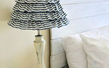 how to update an old lamp with a little glue and fabric