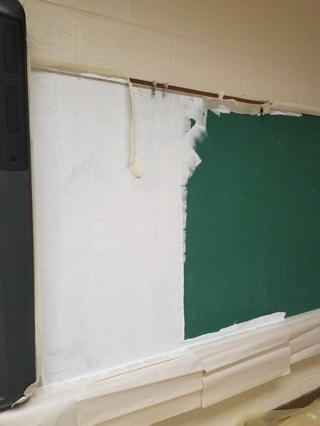 t how to turn magnetic chalk board into magnetic dry erase board