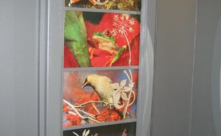 decoupaged medicine cabinet