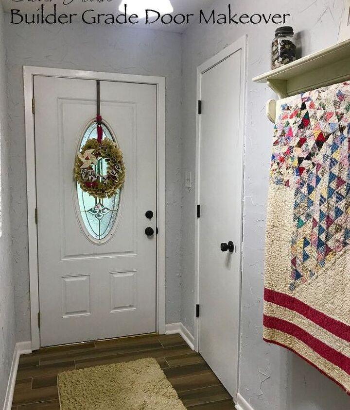 builder grade door makeover