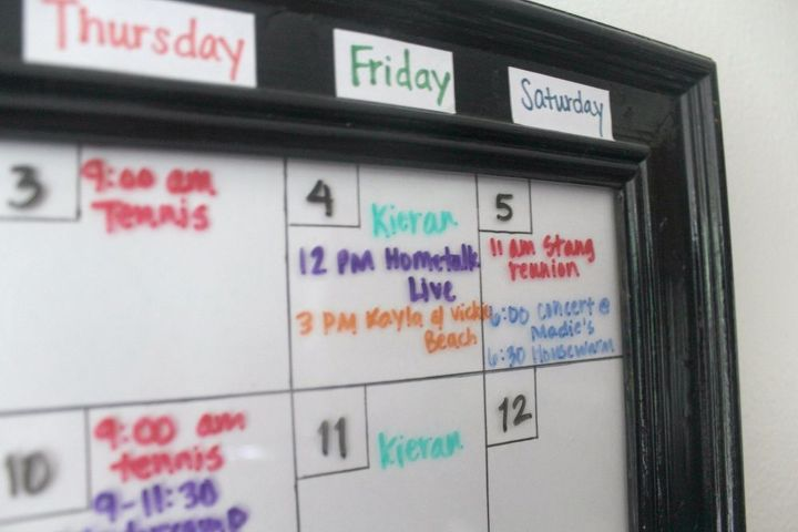 dry erase calendar diy back to school craft