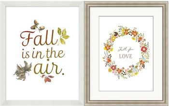 pottery barn autumn framed art knock off printables