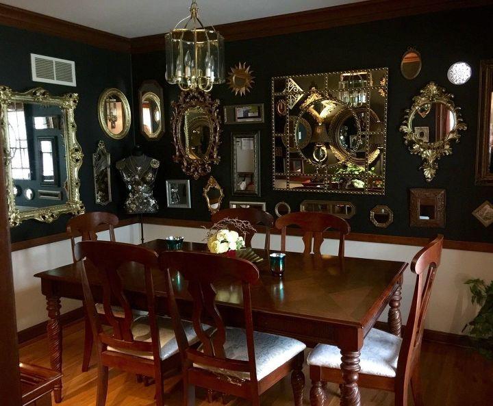 Black Mirrored Dining Room | Hometalk