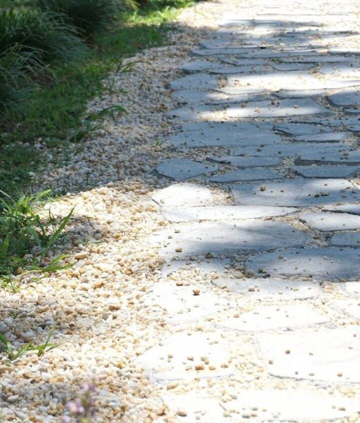 diy cobblestone path