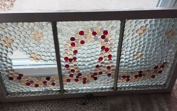 Dollar Store Beads/gems and Old/antique Window...#2