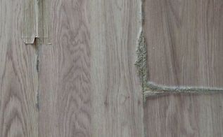 q how can i fix oak laminate flooring that has swollen from being wet