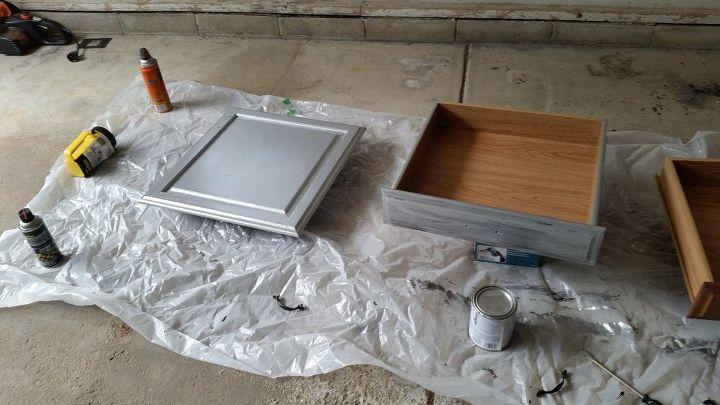 goodbye ugly 80 s oak cabinets hello modern industrial