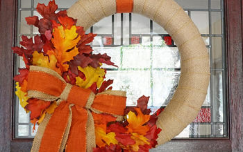 Unbelievably Easy Fall Burlap Wreath