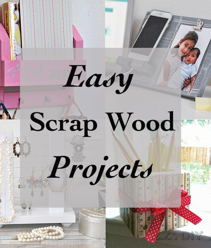 easy organizer with mason jars and scrap wood