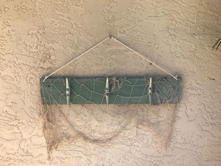 My pool side towel holder