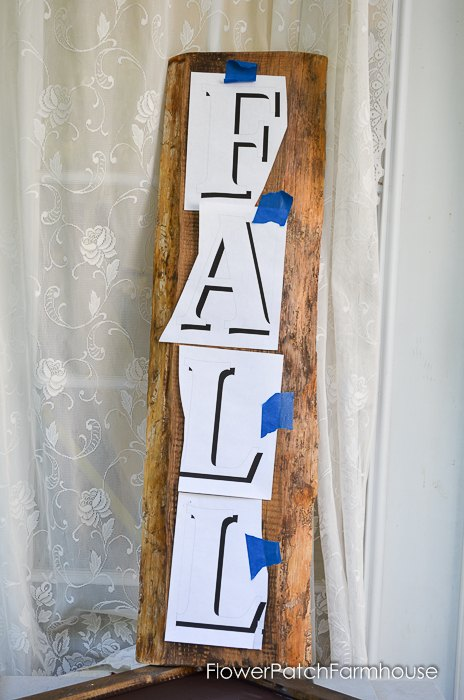 diy fall front porch sign