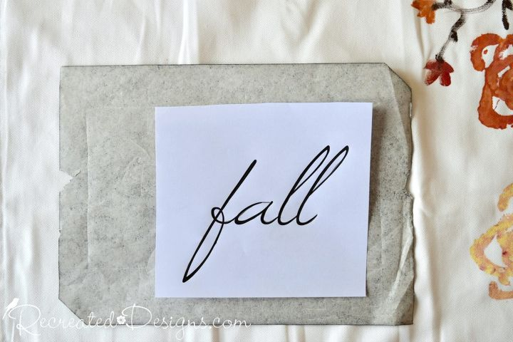 use celery to make a beautiful fall pillow