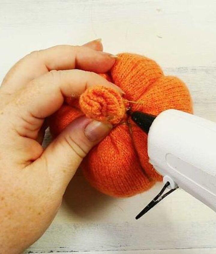 turn an old sweater into a pumpkin