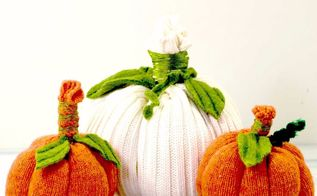 turn an old sweater into a pumpkin