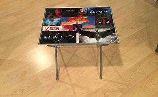 personalized tv tray upcycle