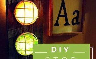 diy stoplight nightlight