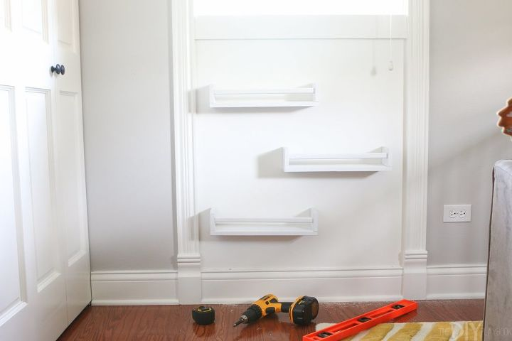diy nursery book shelves for 4 each