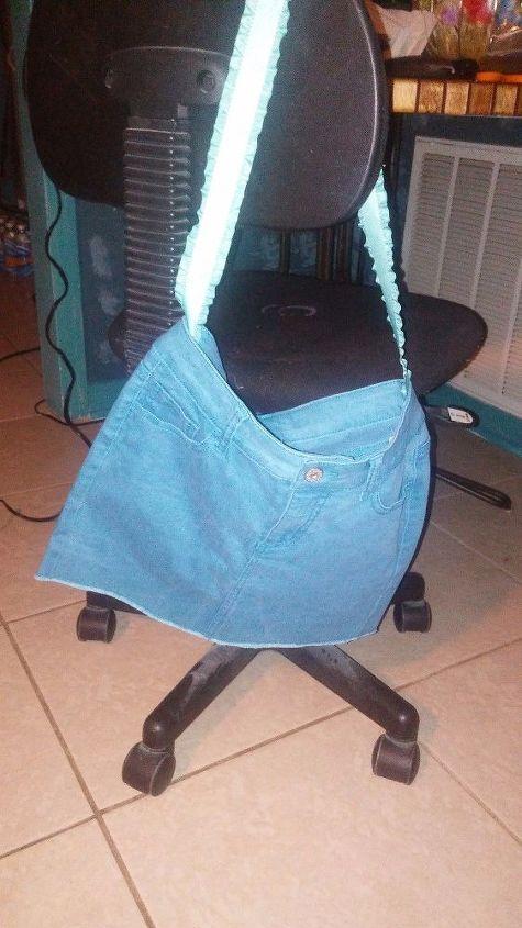 simple jean purse