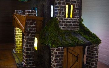 Paper Clay Haunted House With Lights!