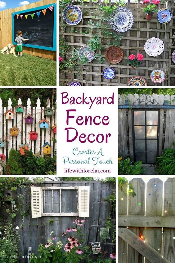 backyard fence decor