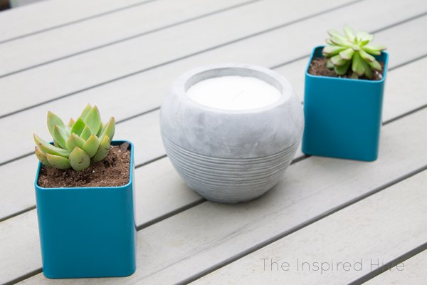 turn old tea tins into planters