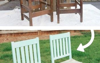 Upcycled Chairs Turned Into A Colorful Bench For Your Backyard