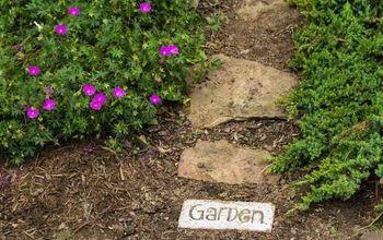 brick word art for your garden path