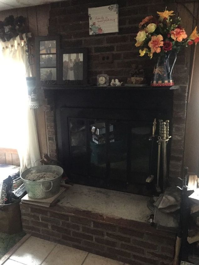 q how can i brighten up my fireplace