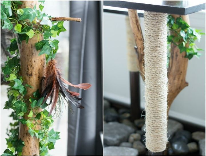 tiny tree branch faux planter