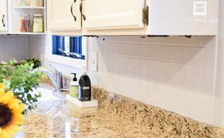 how i painted my kitchen backsplash