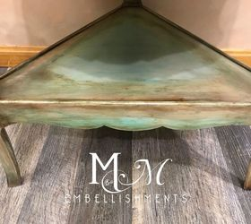 Rustic Turquoise Copper Accent Table
