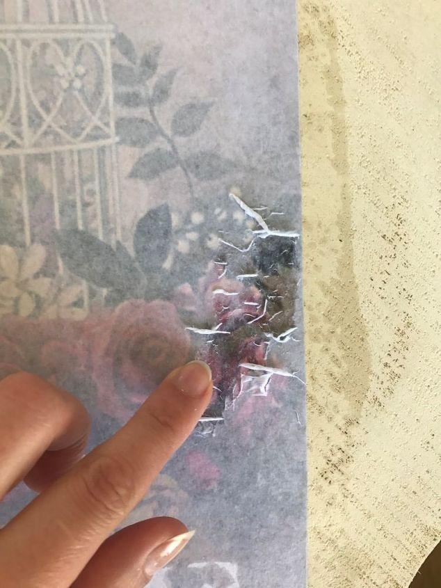 diy image trasnfer on wood slice