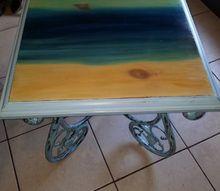 simple serene sea side tables