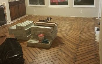Installing Ceramic Hardwoods in the Herringbong Pattern