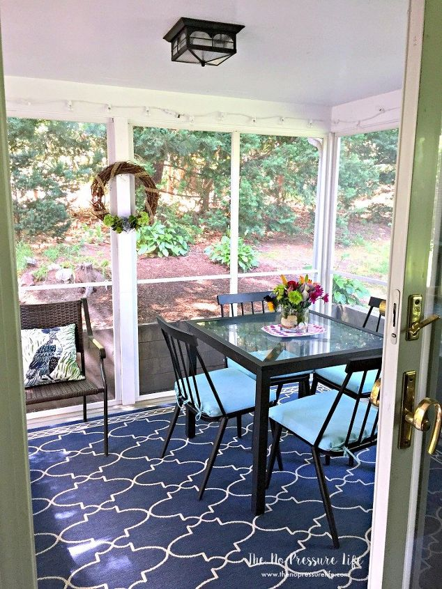 Small Screened In Porch Makeover From Drab To Fab In A