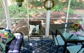 small screened in porch makeover from drab to fab in a day