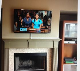 how to hide cable wires when mounting tv over fireplace hometalk rh hometalk com installing tv over fireplace wiring tv over brick fireplace