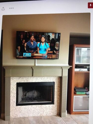 fireplace wire updated above wall mount how hide img tv cable mounted cords brick to on a
