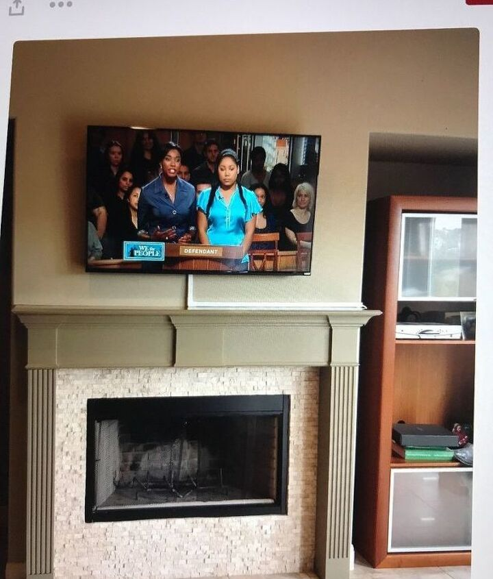 How To Hide Cable Wires When Mounting Tv Over Fireplace Hometalk