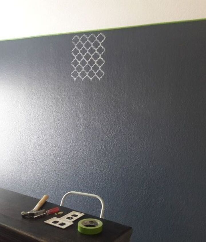 glam accent wall